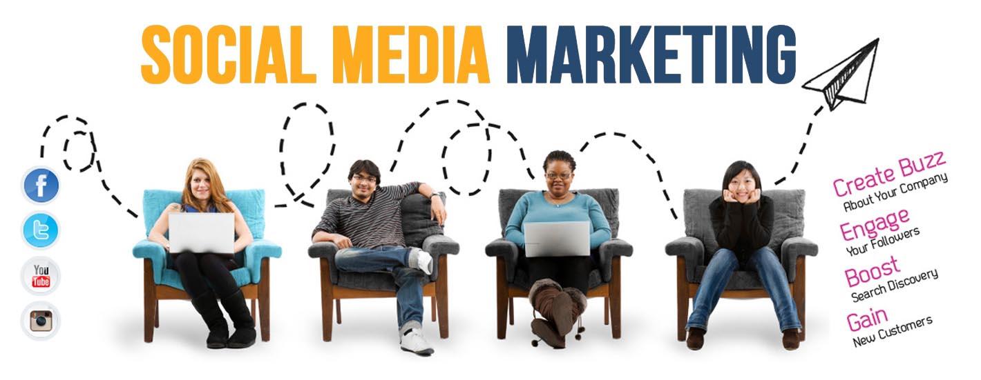 SOCIAL MEDIA MARKETING SMM BANNER