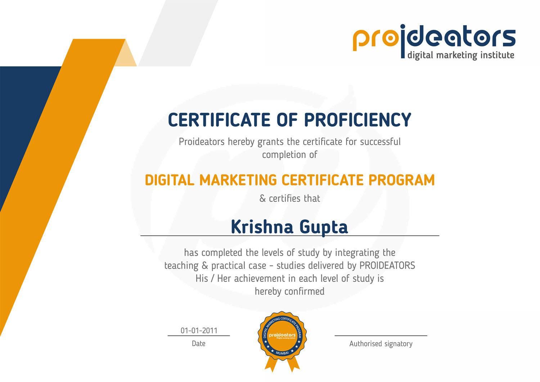 Proideators Certificate