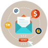 email marketing course -  Icon proideators